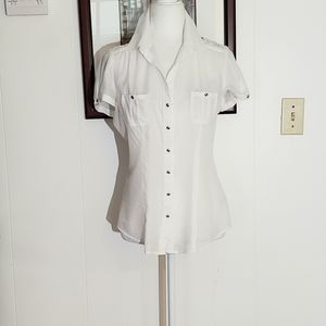 White House Black Market Fitted Top Size 4